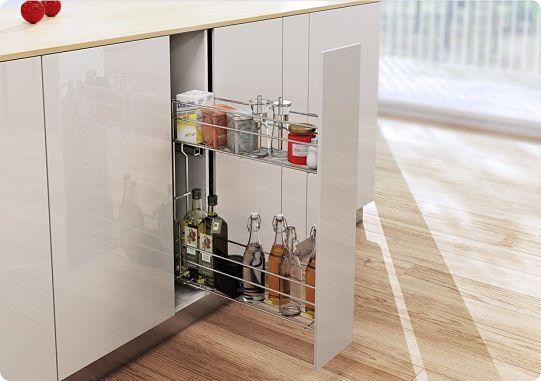 Идеи организации хранения на кухне, выдвижной ящик