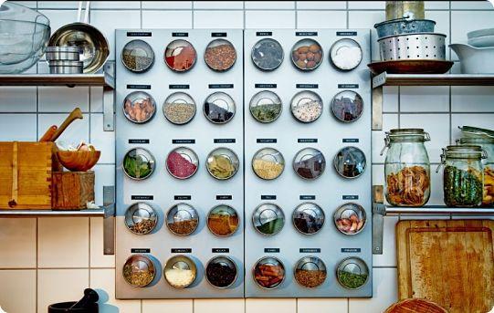 Организация хранения специй на кухне маленького размера