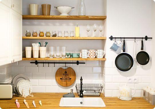 идеи организации хранения на кухне как обустроить стен