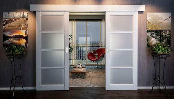 Современные Раздвижные двери в квартире – решение для небольших интерьеров-