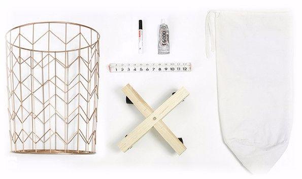 Как сделать корзину для белья своими руками- нужные предметы