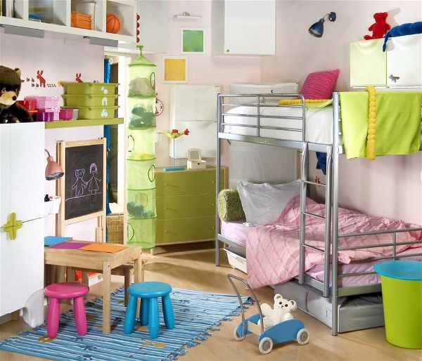 Небольшая детская комната для Вашего ребенка- двухярусная кровать