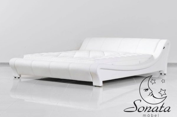 Преимущества кожаной двуспальной кровати Sonata