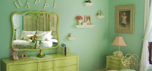 цвет стен в интерьере шебби шик