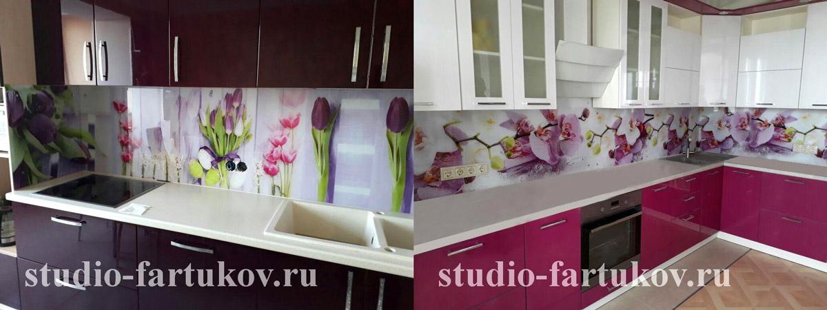 стильные кухонные фартуки