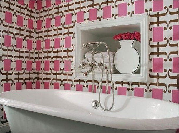 Обои для ванной комнаты