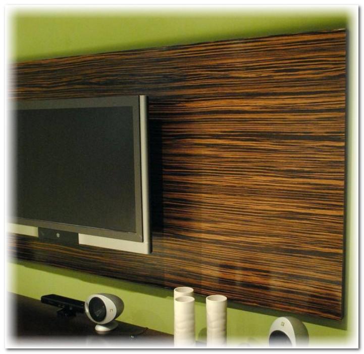Деревянная панель для телевизора