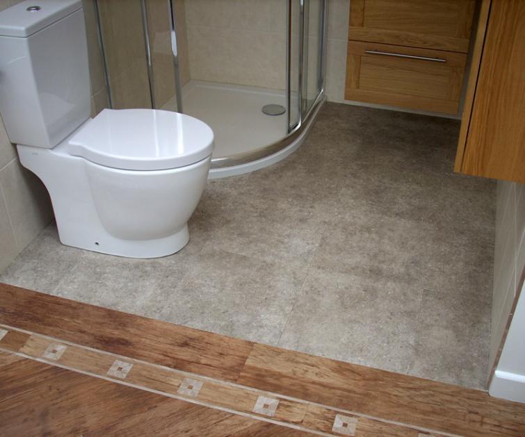 Дизайн туалета с виниловым полом