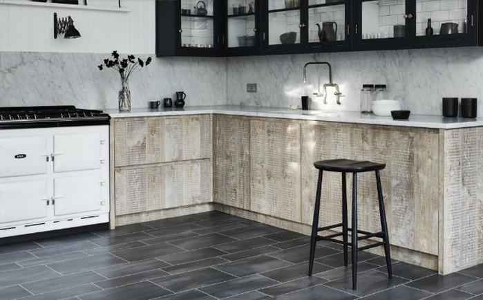 Напольнье покрытие на кухне