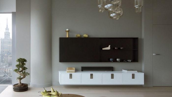 Телевизор в дизайне гостиной