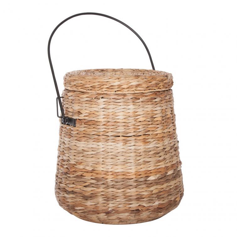 плетеная корзина с крышкой