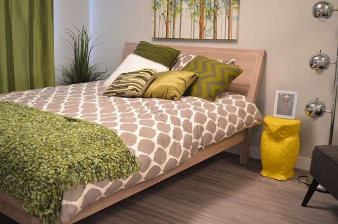 зеленые подушки