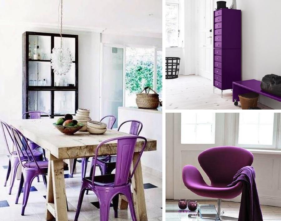 фиолетовые стулья