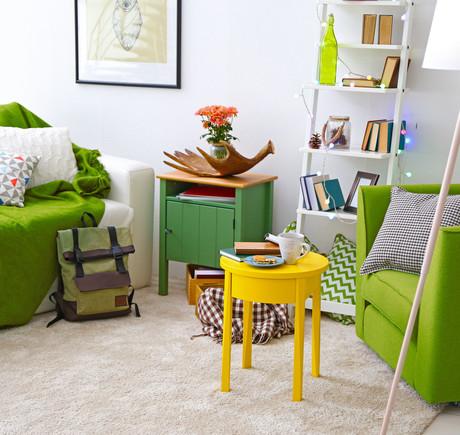 зеленые предметы мебели