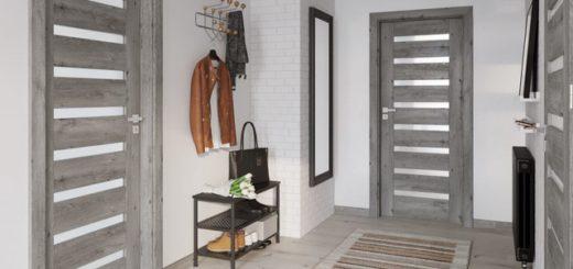 сиденье и серые двери