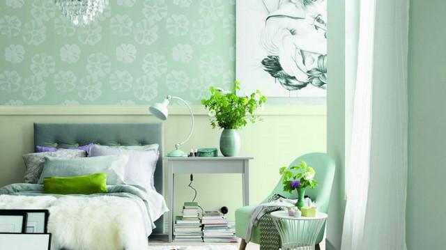 зеленый цвет в комнате