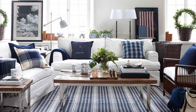 Текстиль и подушки в колониальном стиле