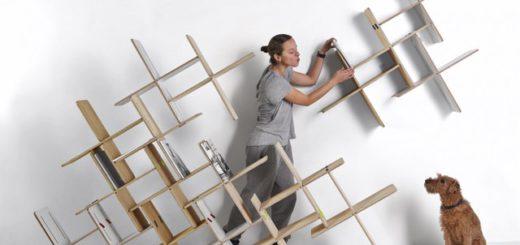 Из гибкого материала можно создать красивые и функциональные полки, которые украсят интерьер