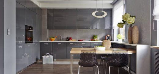 Насыщенная палитра в кухонном интерьере