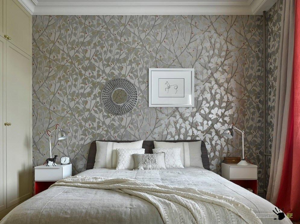 сереристый дизайн комнаты