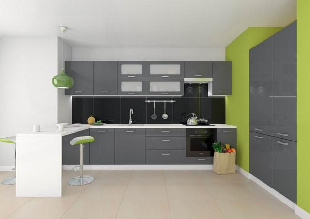 сочетание серого цвета с зеленым