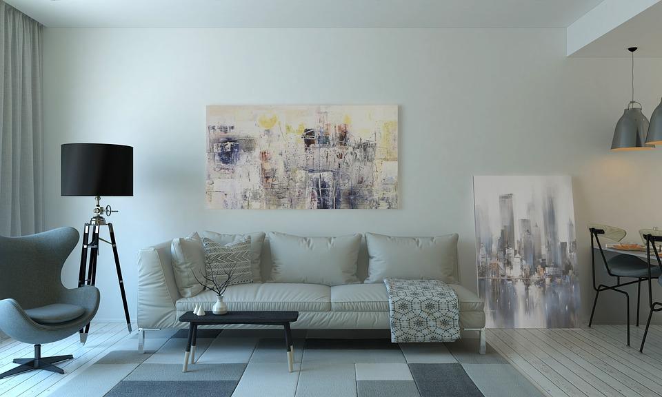 использование светлых оттенков в гостиной