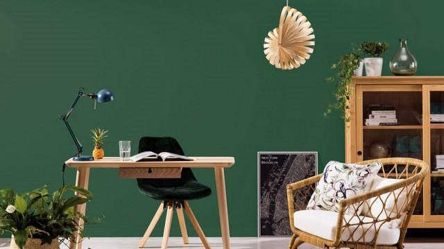зеленый цвет стены