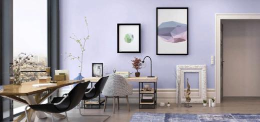 Фиолетовы является достаточно серьезным, чтобы играть главную роль в комнате для работы