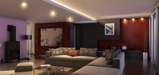 Светильники основные верхние, яркие и доминирующие - осветляют цвета или подчеркивает цвет