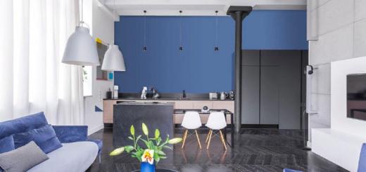 Синий цвет в современном дизайне интерьера