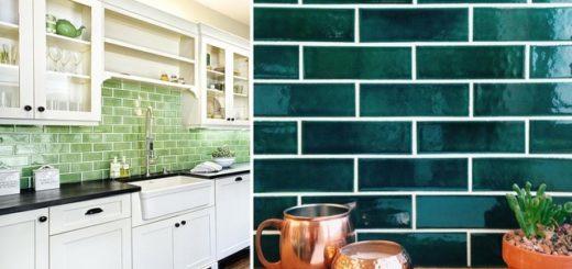 Лучше всего смотрятся плитки в различных оттенках синего и зеленого