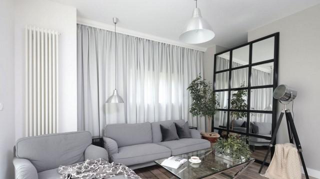 серый цвет увеличивает пространство