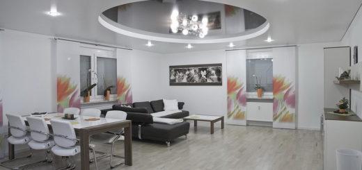 Дизайн интерьера с высоким потолком