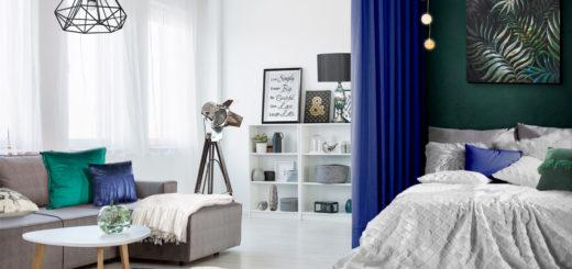 Гостиная со спальней в одном помещении