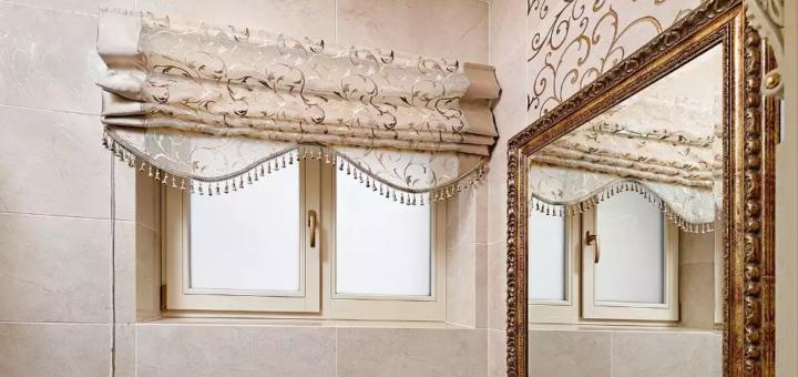 Римская штора в ванной