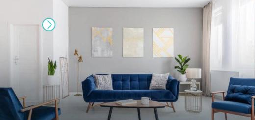 стеганная мебель в гостиной