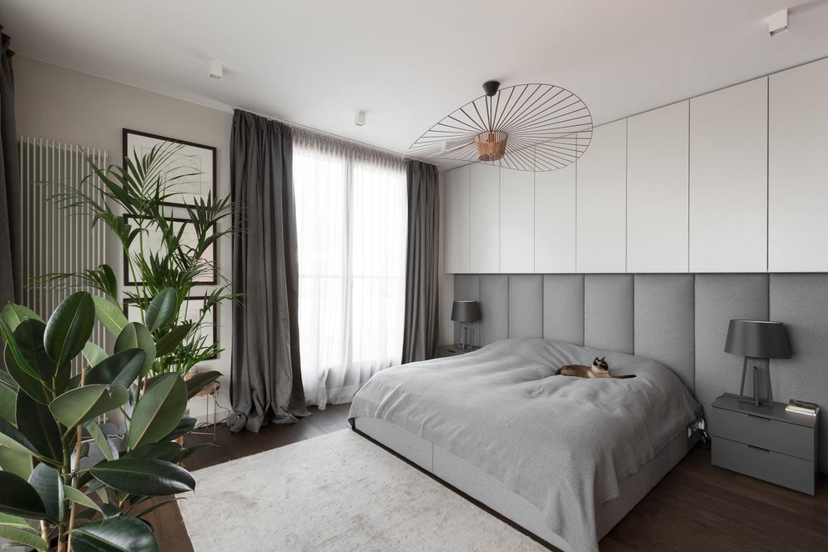 Светляе дизайн спальни