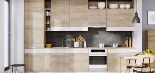 Черный цвет является основной темой, то благодаря потеплении декора цвета бук светлый, кухня не кажется тяжелой и огромной