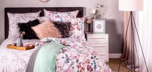 Дизайн спальни в весенних цветах