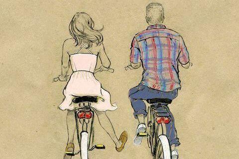 на велосипедах