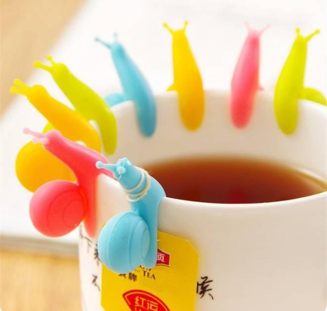 Улитки, удерживающие чай в пакетиках
