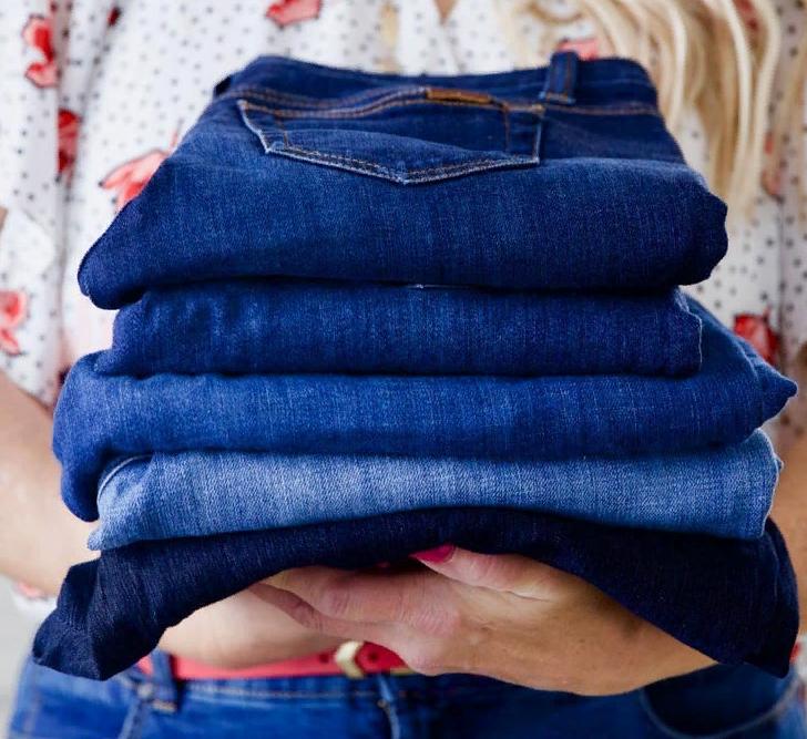 как сложить джинсы