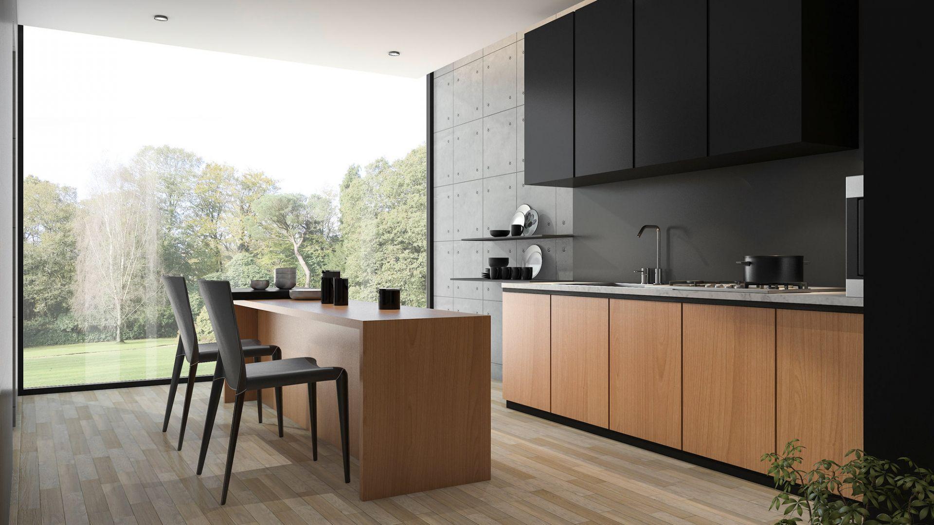 матовые фасады кухонных шкафов