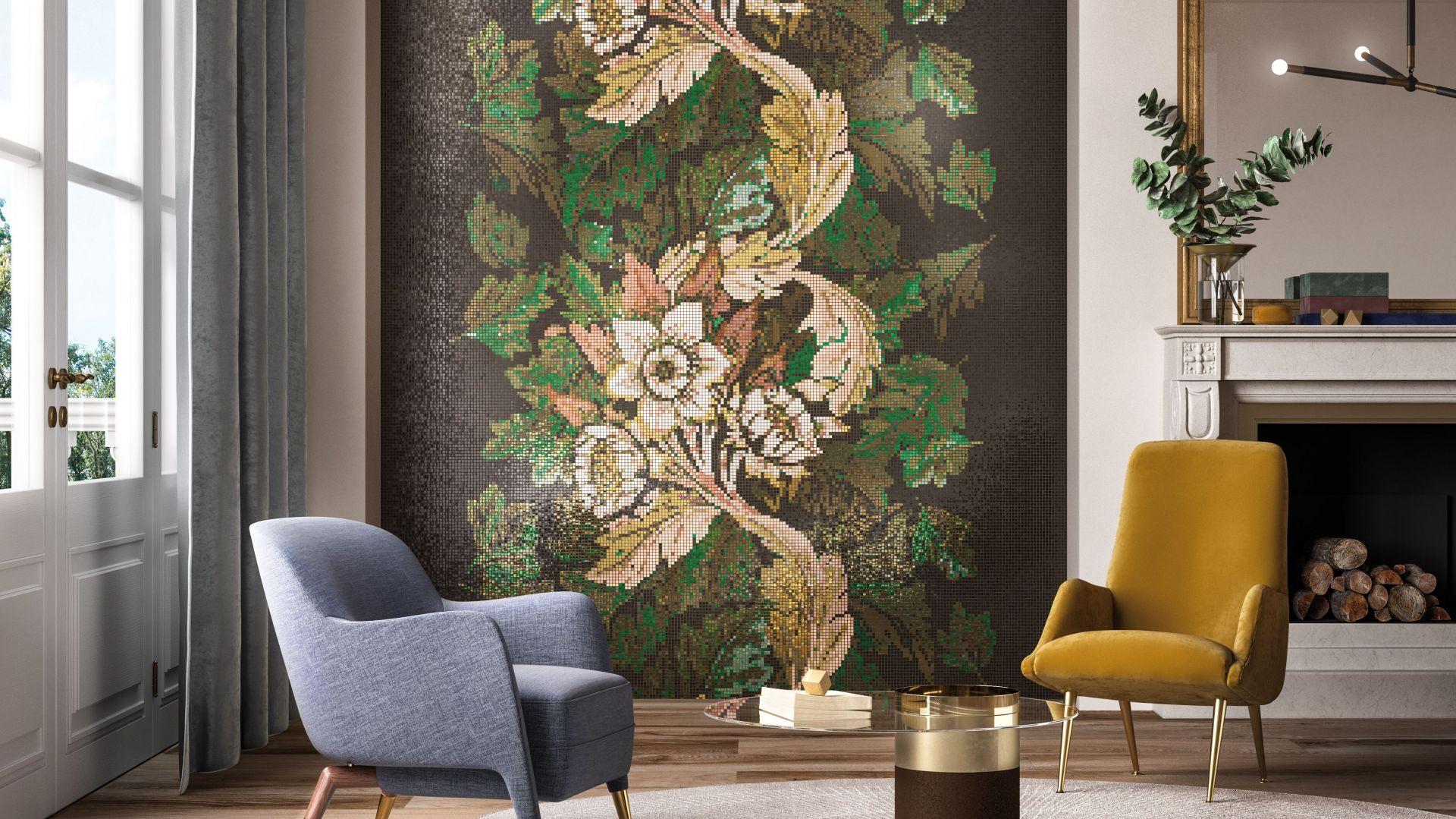 Мозаика Dancing Flowers с одухотворенной природой линии декоративных орнаментов