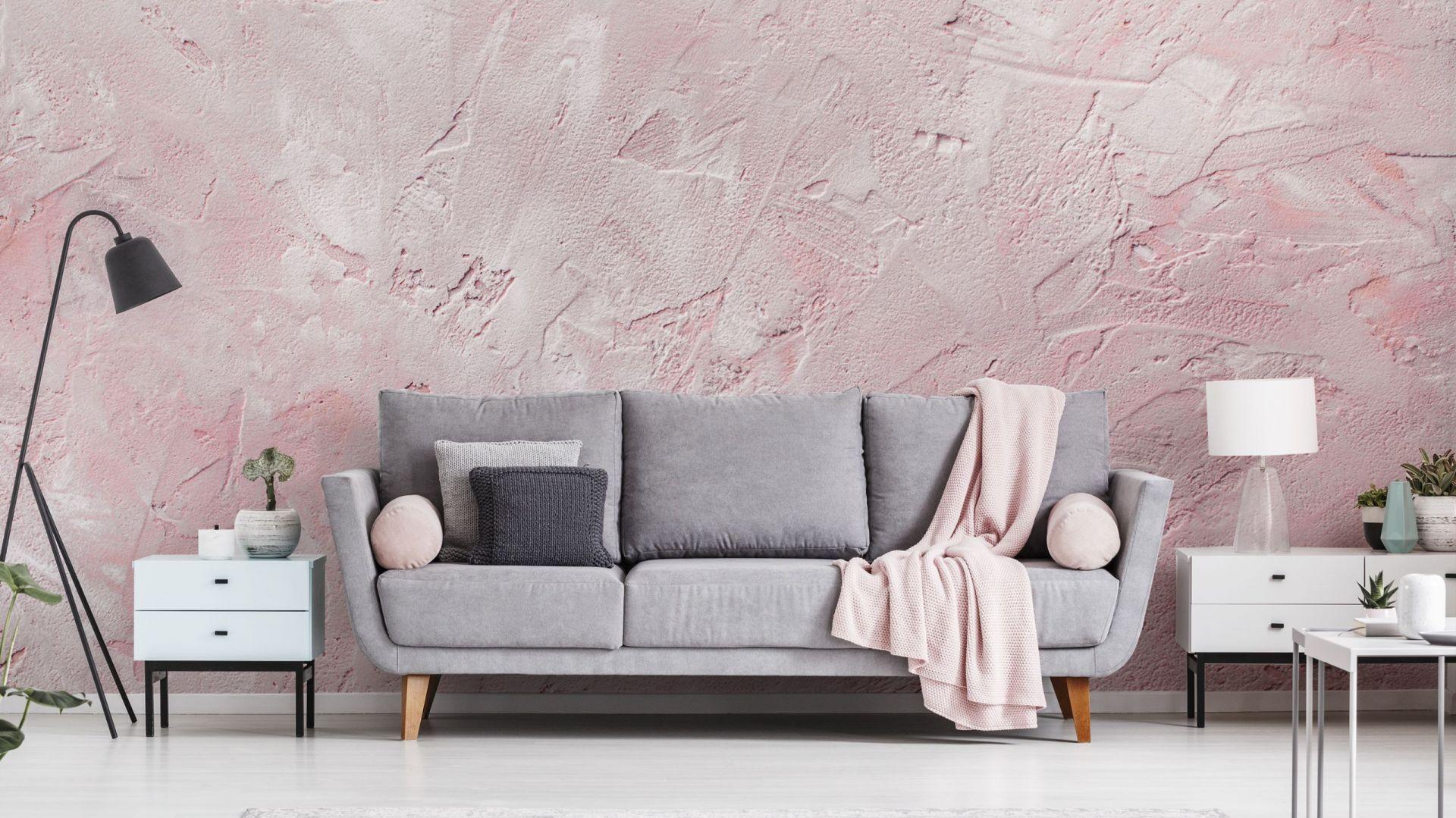 Фото-обои: имитация стены цвета грязного розового