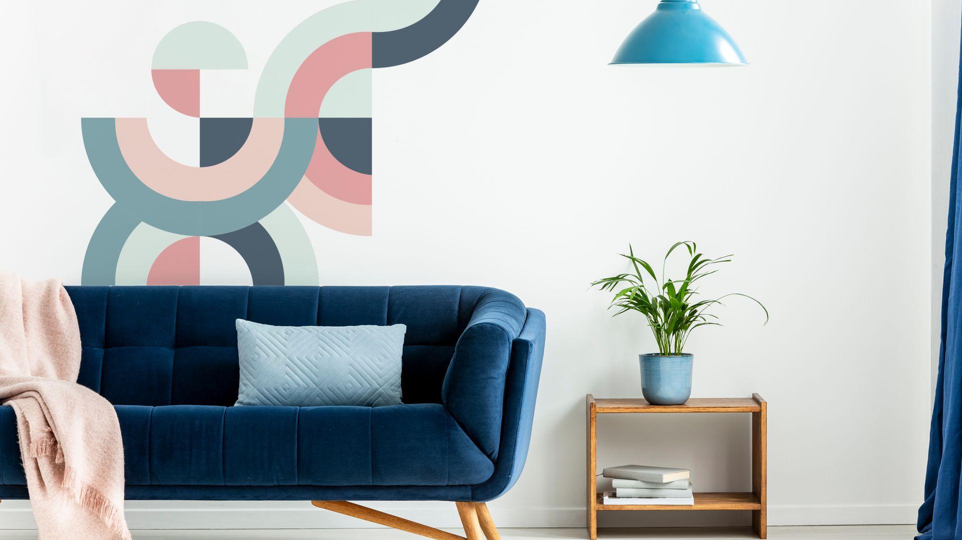 Настенные фрески пастельная геометрия