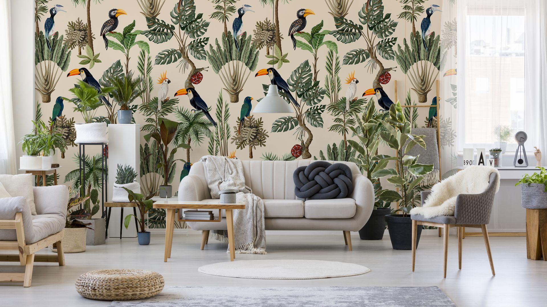 Фото-обои: джунгли и птицы