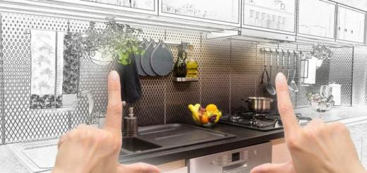 мини кухня в гостиной