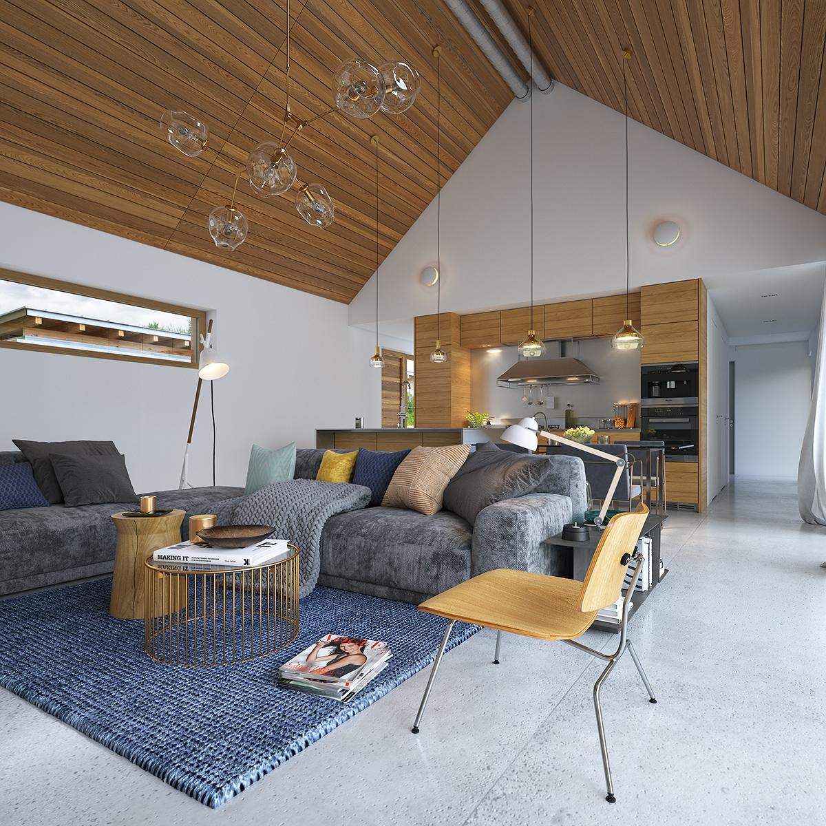современный стиль дизайна частного дома