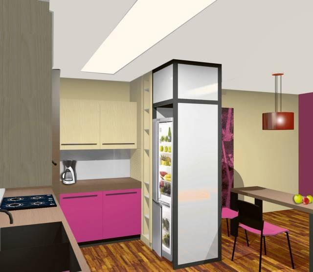 перегородка с холодильником